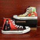 Naruto Converse Shoes Jiraiya Uchiha Itachi Sharingan Custom Hand Painted Canvas Sneakers Gifts
