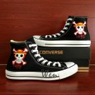Custom One Piece Skull Jolly Roger Converse Shoes Hand Painted Canvas Sneakers Men Women Gifts