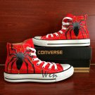 Spider High Top Converse Chuck Taylor Shoes Custom Hand Painted Canvas Shoes Red Sneakers Gifts