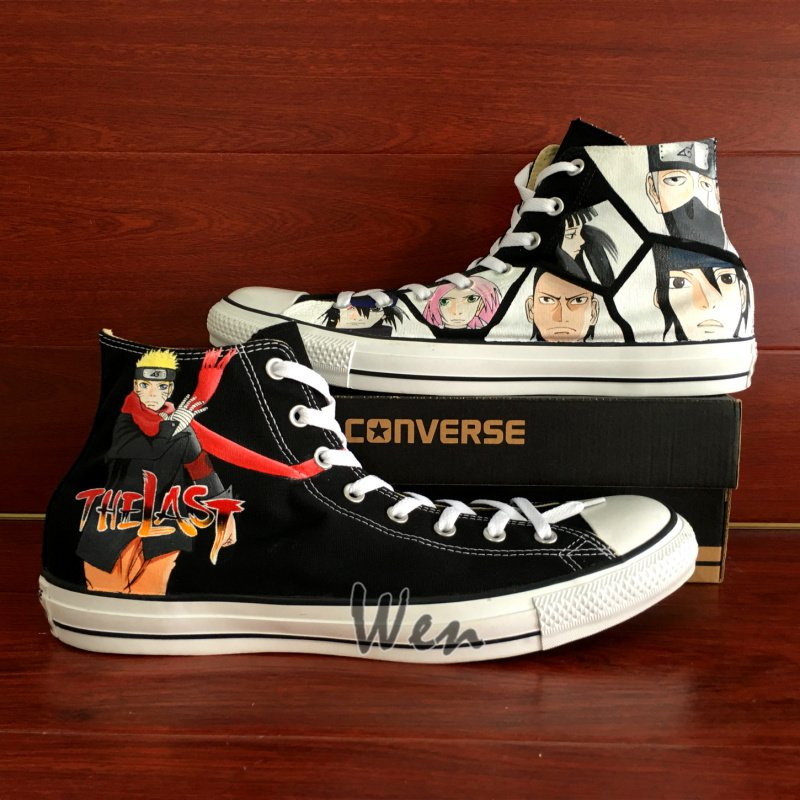 Naruto The Last Converse Sneakers Custom Hand Painted Shoes Unique Birthday Gifts for Men Women