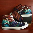 Unique Converse Sneaker Birthday Gifts Men Women Harajuku Galaxy Custom Hand Painted Canvas Shoes