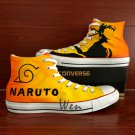 Custom Hand Painted Shoes Converse Chuck Taylor Naruto Uzumaki High Top Canvas Sneakers