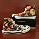 Original Design Converse Pizza Hand Painted Canvas Shoes Unique Christmas Gifts for Men Women