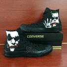 Joker High Top Converse All Star Hand Painted Shoes High Top Black Canvas Sneakers Mens Gifts