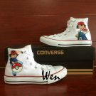 Kids Adult Converse Shoes Pokemon Ash Hand Painted Canvas Sneakers White Casual Shoes Gifts