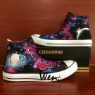 Custom Shoes Converse Galaxy Universe High Top Hand Painted Canvas Shoes Birthday Gifts Men Women