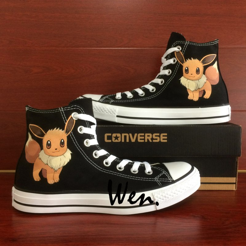4a5a7eab30791 Cute Pokemon Eevee Converse Shoes Boys Girls Hand Painted Canvas Sneakers  Personalized Gifts