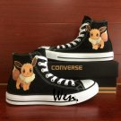 Cute Pokemon Eevee Converse Shoes Boys Girls Hand Painted Canvas Sneakers Personalized Gifts