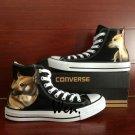 Pet Dog Hand Painted Converse Shoes High Top Canvas Sneakers Unique Casual Shos Men Women