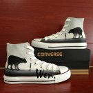 Original Design Hand Painted Converse Shoes Boy and Bear High Top Canvas Sneakers Men Women Gifts