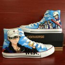 Custom Hand Painted Shoes Prince of Tennis Converse Chuck Taylor High Top Canvas Sneakers