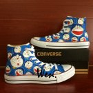 Men Women Doraemon Converse Shoes Custom Hand Painted Shoes Unique Canvas Sneakers Unique Gifts