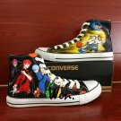 Custom Anime Converse Kuroko's Basketball Hand Painted Shoes High Top Fashion Canvas Sneakers