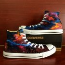 Carina Nebula Galaxy Hand Painted Shoes Men Women High Top Converse All Star Canvas Sneakers