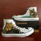 Wolf Shoes Converse Chuck Taylor Custom Hand painted Shoes Fashion Canvas Sneakers Men Women