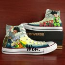 Men Women Canvas Sneakers Converse Anime Hunter X Hunter Hand Painted Shoes Unique Birthday Gifts