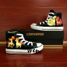 Custom Converse Shoes Pokemon Hand Painted Canvas Sneakers Ninetales Rapidash Ponyta Vulpix