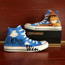 One Piece Luffy High Top Converse Sneakers Custom Hand Painted Shoes Unique Canvas Casual Shoes