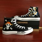 Mens Converse Shoes One Piece Jolly Roger Sanji Hand Painted Canvas Sneakers Birthday Gifts