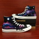 High Top Galaxy Nebula Converse All Star Hand Painted Shoes Unique Canvas Sneakers Men Women