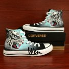Hand Painted Shoes Snow Leopard Converse Chuck Taylor High Top Canvas Sneakers Men Women Gifts