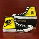High Top Black Converse Sneaker Fairy Tail Hand Painted Shoes Canvas Sneakers Birthday Gifts