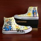 Anime Barakamon Converse Shoes Gifts Men Women Hand Painted Shoes High Top Canvas Sneakers