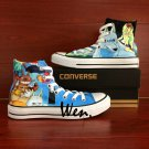 Cartoon Shoes Converse Princess Mononoke Totoro Hand Painted Shoes High Top Canvas Sneakers