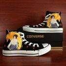 Uchiha Sasuke Kurama Naruto Converse All Star Hand Painted Shoes Unique Canvas Sneakers Men Women