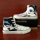 Original Design Cartoon Girl Converse Shoes Hand Painted Canvas Sneakers for Woman Man