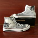 Custom Design Pet Cat Hand Painted Converse Shoes Unisex High Top Canvas Sneakers