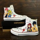 Anime Fairy Tail Design Converse All Star Hand Painted Shoes for Man Woman