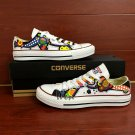 Original Design Colorful Floral Totem Hand Painted Canvas Shoes Converse Mens Womens