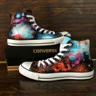 Original Design Galaxy Nebular Hand Painted Shoes Unisex Converse Canvas Sneakers