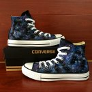 Design Hand Painted Galaxy Stars Canvas Shoes Unisex Original Converse All Star