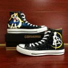 Anime Sailor Moon Hand Painted Converse Men Women's High Top Canvas Sneakers