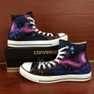 Original Converse Design Galaxy Stars Hand Painted Shoes High Top Canvas Sneakers