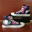 Galaxy Space Hand Painted Shoes Original Design Converse Chuck Taylor High Top Sneakers