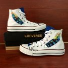 Hand Painted Shoes Original Design Feather White Converse All Star Man Woman's Canvas Sneakers