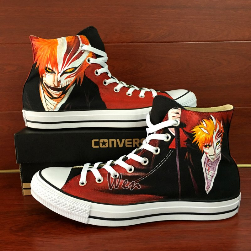 Bleach Hand Painted Shoes Anime Converse All Star Custom Design Canvas Sneakers