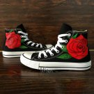 Original Red Rose Flower Converse All Star Hand Painted Canvas Shoes Floral Canvas Sneakers