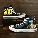 Anime Converse All Star Design Sword Art Online Hand Painted Shoes High Top Canvas Sneakers