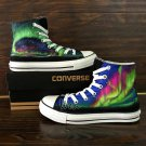 Design Converse All Star Shoes Aurora Hand Painted Canvas Sneakers for Man Woman