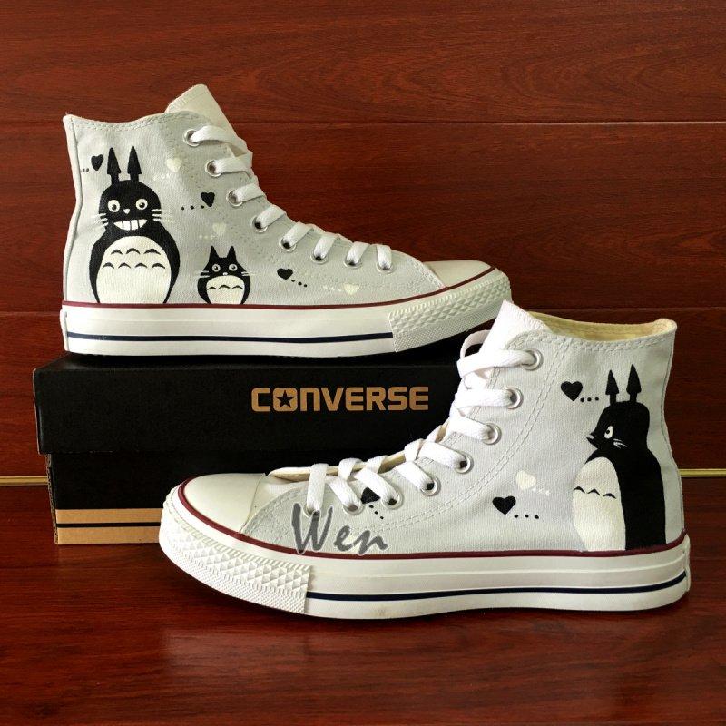 Custom Design Anime My Neighbor Totoro Converse All Star Hand Painted Shoes