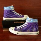 Lavender Custom Design Hand Painted Canvas Sneakers Man Woman's Converse Shoes