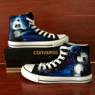 Night Sky Panda Original Design Converse All Star Shoes Hand Painted Canvas Sneakers