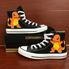 Unisex Hand Painted Shoes Anime Pokemon Charmander Converse All Star Canvas Sneakers