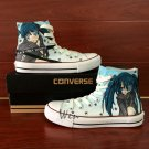 Black Rock Shooter Anime Converse All Star Man Woman's Hand Painted Shoes