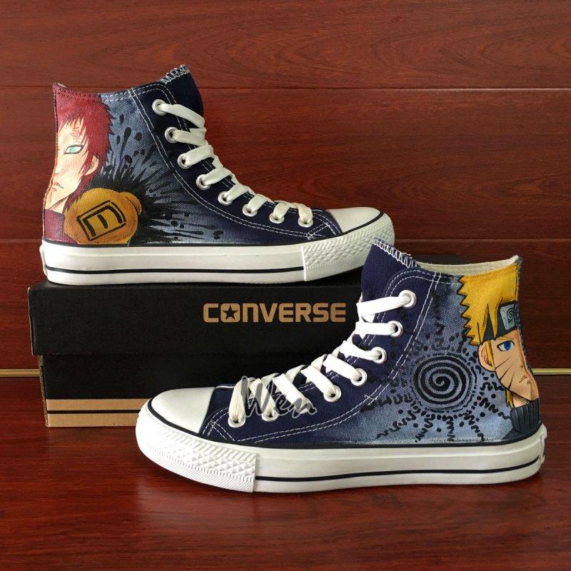 Custom Design Naruto Uzumaki Gaara Anime Converse All Star Hand Painted Canvas Shoes