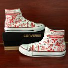 Unisex Converse All Star Shoes Design Custom Christmas Pattern Hand Painted Canvas Sneakers